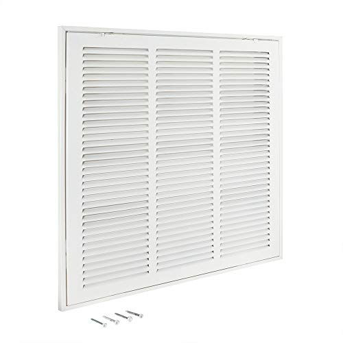 EZ-FLO 61656, White Return Air Filter Grille, 18 inch x 18 inch Opening, 18' x 18'