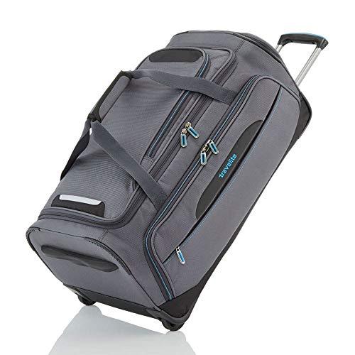 travelite Trolley Reisetasche Größe M, Gepäck Serie CROSSLITE: Robuste Weichgepäck Reisetasche mit Rollen im Business Look, 089502-04, 69 cm, 82 Liter, anthrazit