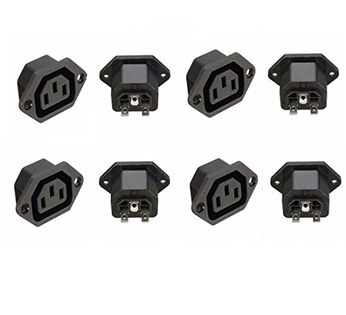 Switch Electronics 10 x C13 IEC Chassis Outlet Panel Mount 10A 250V AC Pack of 10