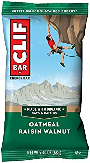 CLIF BAR - Energy Bars - Oatmeal Raisin Walnut - (2.4 Ounce Protein Bars, 12 Count)