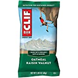 CLIF BARS - Energy Bars - Oatmeal Raisin Walnut - Made with Organic Oats - Plant Based Food - Vegetarian - Kosher (2.4 Ounce Protein Bars, 12 Count)