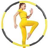 ACPURI Fitness Ejercicio Pesado Hula Hoop, Perder Peso rápido por diversión Forma de Entrenamiento, Quema de Grasa Modelo Saludable, Desmontable y diseño Ajustable de tamaño (Dia.95)