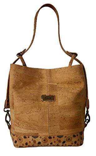 Kaibe Kork Handtasche Schultertasche mit verstellbarem Riemen Handgefertigte multifunktionale Kork Tasche aus Portugal Kork Shopper Tasche für Damen