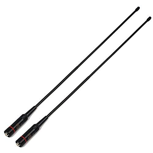 TWAYRDIO Two-Way Radios Dual Band Antenna SMA Female Flexible VHF UHF Handheld Radio Whip Antenna for BaoFeng UV-82 UV-5R BF-F8HP GT-3 BF-888s Walkie Talkie