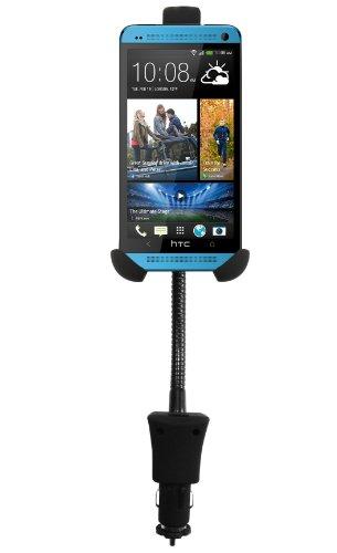 Luxburg® Auto Handy KFZ Halterung für HTC One / M7 / X/One mini/mini 2 / Desire 526/510 Smartphone - mit USB Ladefunktion