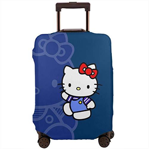 Reisetasche Hello Kitty Time Koffer-Schutz waschbar Gepäckabdeckungen 45,7-81,3 cm, weiß (Weiß) - CHLING-31648403-White-30