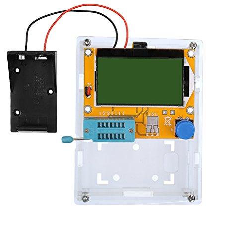 diymore LCR-T4 ESR Compteur Testeur de Transistor Diode Triode Capacité Inductance SCR 328 Afficheur LCD MOS PNP NPN (Boîtier avec Coque)