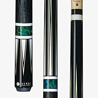 Lucasi Custom Hybrid Pool Cue Stick LHC80 w/Zero Flexpoint Spliced Shaft, Black Lizard Grip & Kamui Pro Tip