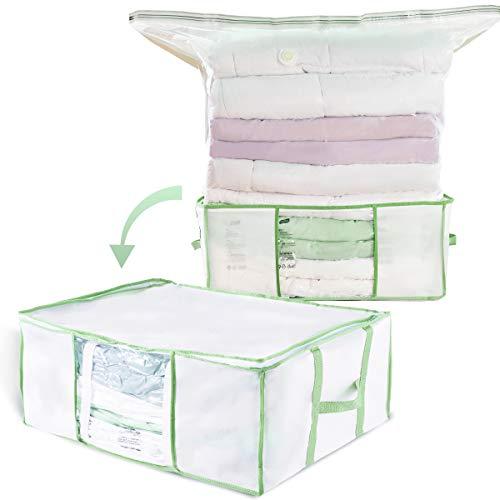 布団圧縮ボックスふとん収納ケース圧縮袋付きケース再利用可能掃除機対応クロゼット収納用ふとん用カビダニ対策郵送用クッション収納多種サイズ特大(L)