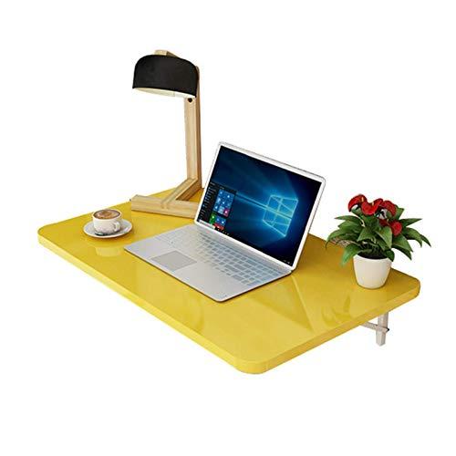 Monte en la pared Escritorio para niños (amarillo) Mesa montada en la pared, Mesa de espacio flotante Saving Tabla colgante para estudio, Dormitorio, Baño o balcón (Tamaño: 70 veces; 40 cm, Color: Ama