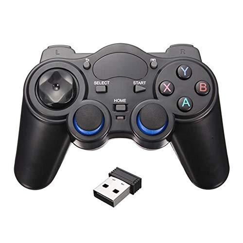 WEFH Gamepad inalámbrico con Mango para teléfono Inteligente para teléfono Android/computadora PC / PS3 / TV Box, Negro