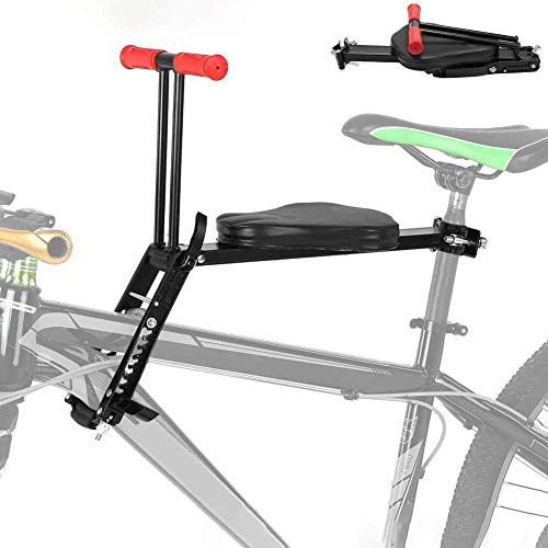 TB-Scooter Child Bike Seat Kids Quick Dismounting Foldable Ultralight Front Mount Baby Bicycle Carrier With Handrail for Mountain Bikes,Hybrid Bikes,Fitness Bikes Easy to Installment