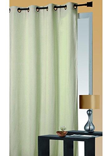 HomeMaison Rideau Isolant Thermique, 100% Polyester, Ecru, 260x140 cm