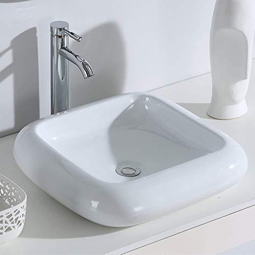Waschbecken Bad Vorhang Waschbecken Keramik Runde Plattform Kunst Waschbecken Sanitärkeramik 47 * 47 * 11 CM Waschbecken 0708