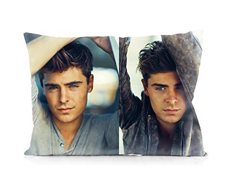 Zac Efron Pillowcases Both Sides Print Zipper Pillow Covers