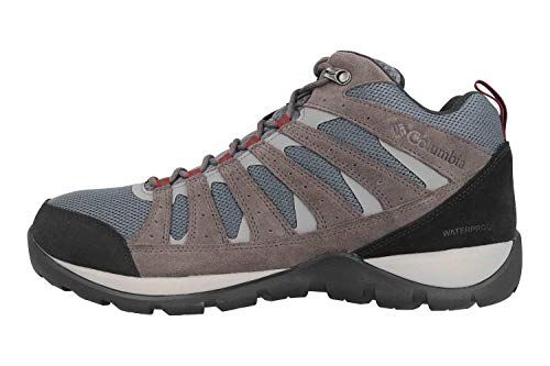 Columbia Men's Redmond V2 MID Waterproof Hiking Shoe, Graphite, red Jasper, 10.5 Regular US