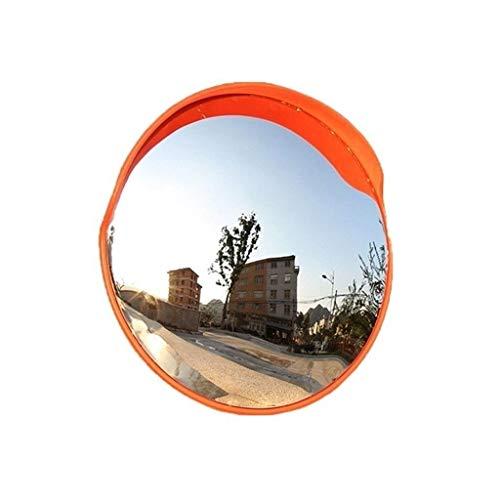 L.TSN Espejo de tráfico Lateral de Carretera, Lente Gran Angular de plástico de 80 cm Durable Fácil de Instalar Espejo Convexo Espejo de Punto Ciego de Garaje Familiar (Tamaño: 80 cm)