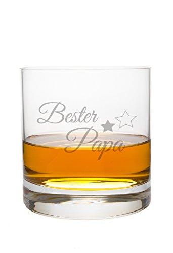 FORYOU24 Whiskeyglas Leonardo mit Bester Papa Gravur Geschenkidee Whisky-Glas graviert