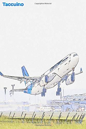 Taccuino: l'aereo decolla dall'aeroporto: 6 'x 9', 103 pagine, versione a righe per studenti, scuole e università