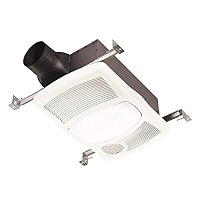 NuTone 765H80L: 80 CFM 2 Sone Ceiling Mounted Exhaust Fan with Heater and LED Light