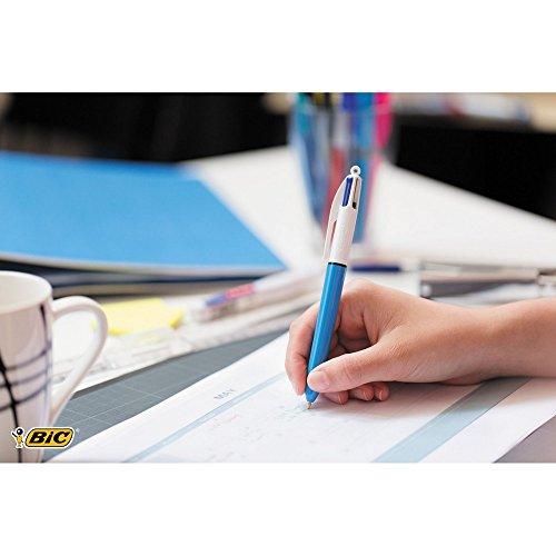 BIC 4 Colours Original Ballpoint Pens Medium Point (1.0 mm) - Pack of 2+1