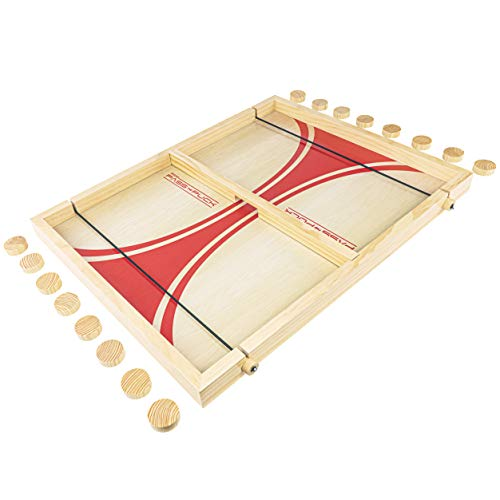 GoSports Pass The Puck Game Set - Rapid-Shot Tabletop Board Game - Fun for Kids & Adults