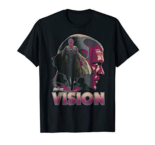 Marvel Infinity War Vision Big Head Profile Graphic T-Shirt
