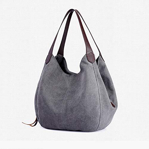 BECCYYLY Kleidung Aufbewahrung Boxhandtasche Handtasche Designer New Canvas Bag Handtasche Wild Art Einfache Freizeittasche mit einem Schulterfach