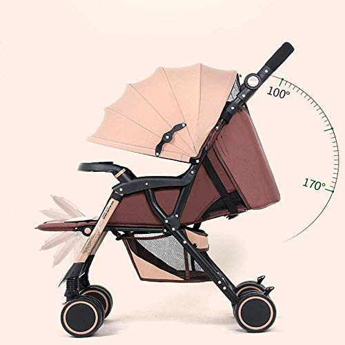Lunzi Luxueux poussette anti-choc pour bébé poussette pliable anti-choc pour nouveau-né avec berceau, B,A