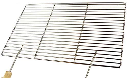 AKTIONA Edelstahl Grillrost 58 x 30 cm + 2 Griffe ! Stab zu Stab nur 10 mm ! Stäbe Ø 4mm !!!, stabil