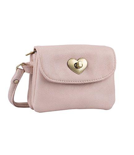 SIX Trachtentaschen Damen: Kleine, rosa Dirndltasche für Tanz in den Mai, Maikönigin, Volksfest, Schützenfest, Frühlingsfest, Oktoberfest (726-386)