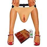 CTKOLYS Camel Toes Panty für Herren Verdeckter Gaff-Silikon-Tanga für Crossdresser Transgender 1G, 0.6 kg - Cyber Skin (AV22T-FLESH, FreeeSize)