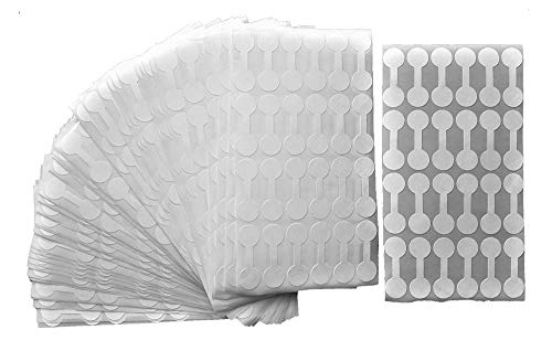 Jewelry Repair, Price and Indentification Tags/Tyvek Self Adhesive Short Dumbbell/Barbell Jewelry Price Tags 1000 Pieces (1000 Pack, White)
