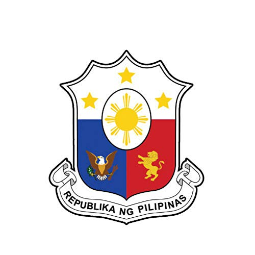 MAGNET Filipino Coat Of Arms Philippines Flag Phl Ph Magnetic Vinyl Car Fridge Sticks to any Metal Surface 5'