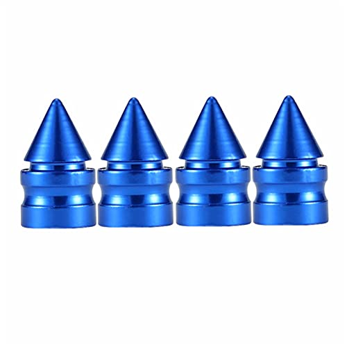 YIKXCF Aleación de Aluminio Rueda de automóvil Válvula de neumático Tapa de neumático Rim Tallo Cubiertas Airdust Impermeable para automóviles Motocicletas Camiones Bicicletas (Color : Blue)