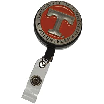 FTH Tennessee Vols Badge Reel with Alligator Clip