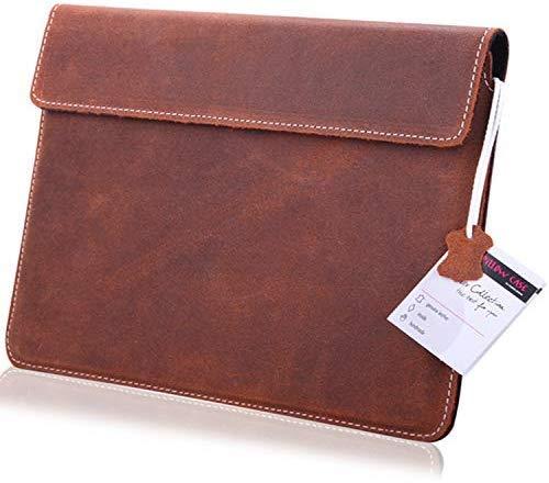 MOELECTRONIX ECHT Leder Tablet Hülle passend für Huawei MediaPad M5 LTE 10.8 | Schutz Tasche Lederhülle Slim Tab mit Magnetverschluss | 1A BRAUN