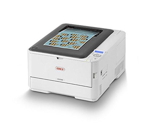 OKI C332dnw Farbdrucker (Drucken, A4, 26/30 Farbe/Mono Seiten/Min, 1.200x600 DPI, LAN, WLAN, Duplexdruck, max. 3.000 Seiten/Monat, max. 45.000 Seiten)