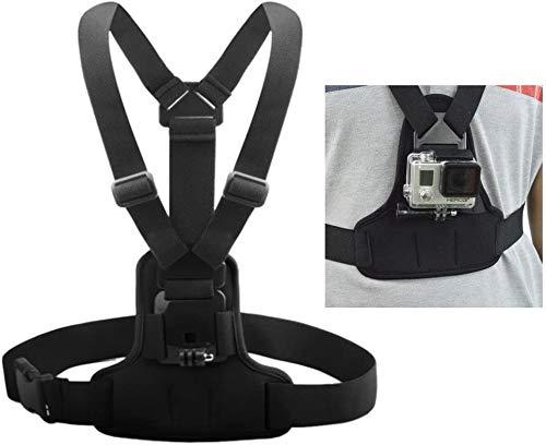 Andoer Einstellbare Brustgurt Halterung elastische Auffanggurt Brustgurt Berg Band Gürtel Zubehör für Sport-Kamera GoPro Hero 4/3 + / 3 / 1.2 SJCAM