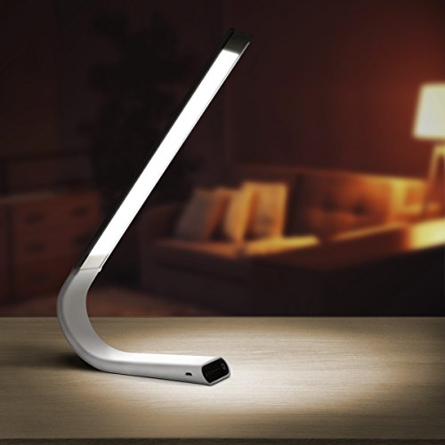Luxe Cordless Eye Friendly LED Desk Lamp, USB Rechargeable...