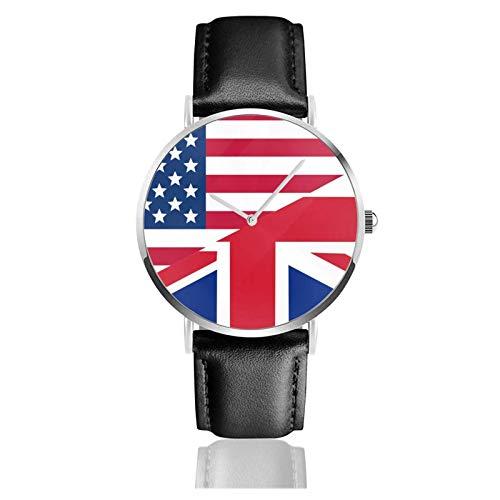 Reloj de Pulsera Colorido Donas Durable PU Correa de Cuero Relojes de Negocios de Cuarzo Reloj de Pulsera Informal Unisex