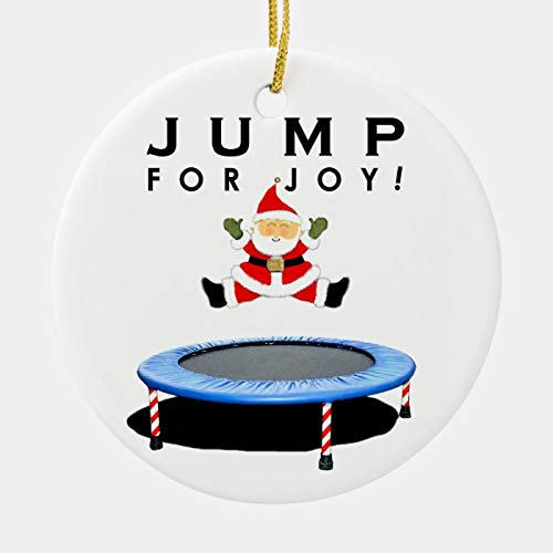 Personalized Gymnastics Trampoline Ceramic Ornament Custom with Any Name and Date Porcelain Christmas Ornament