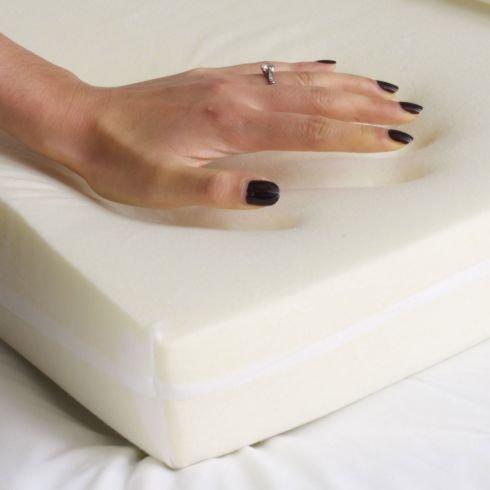 Soak&Sleep Classic Memory Foam Topper - Double Size - 5cm 45kg/m3