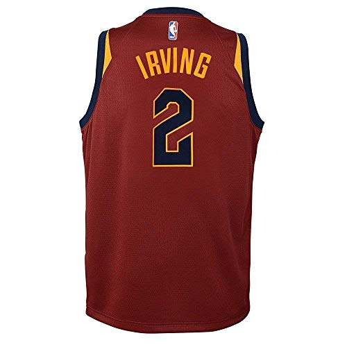 Nike Kyrie Irving Cleveland Cavaliers NBA Boys Youth 8-20 Burgundy Red Road Swingman Jersey (Youth Small 8)