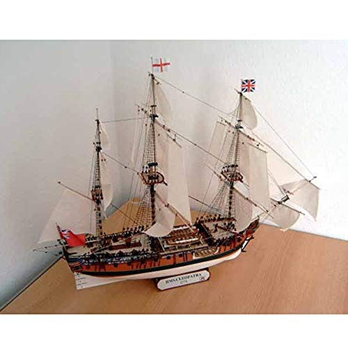 ELVVT Cleopatra britische Segelschiff Modell Handgefertigte High Schwierigkeit DIY Papier-Kunst-Modell-Spielzeug Geburtstag Dekoration Geschenke for Militär Fans Kind Erwachsene