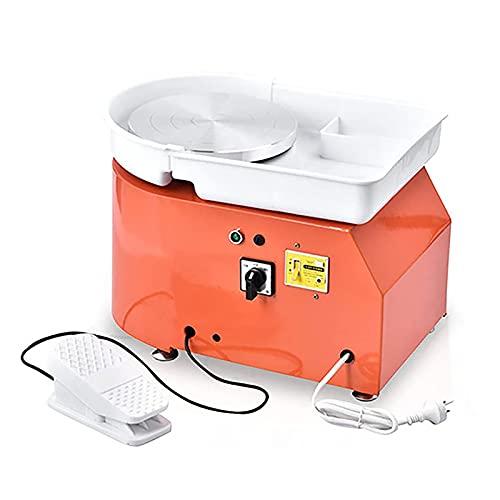 TOPQSC Roue de Poterie Électrique 25CM 350W Formant Outil d'argile Roue en Céramique Machine Céramique Argile Trousse à Outils de Bricolage avec Pédales et Bassin Lavable Amovible