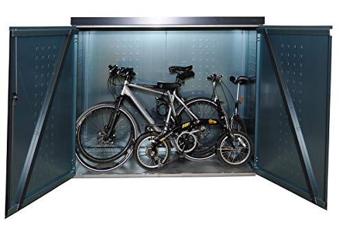 Reinkedesign Fahrradgarage/Multifunktionsbox (Aluminium Anthrazit mit Pultdach)