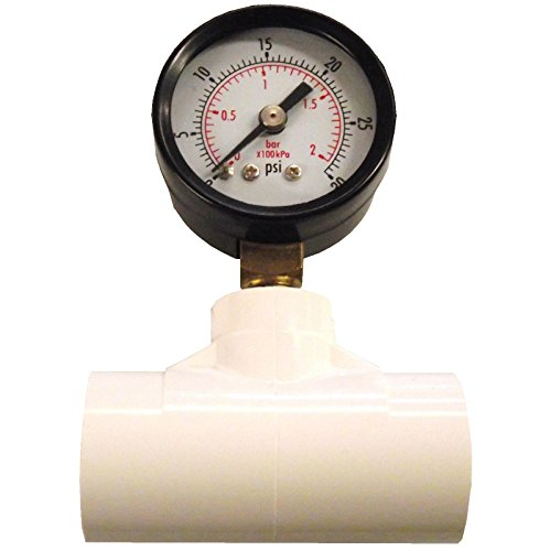 Rite Farm Products in LINE Gauge 0 to 30 PSI & 1/2' PVC TEE Cups & Nipple Poultry Chicken Pressure Regulator