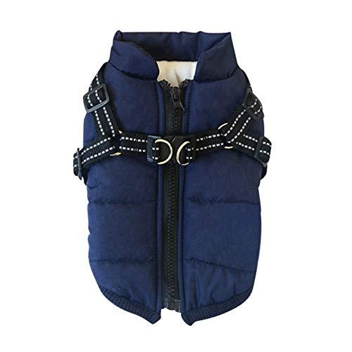 Handfly vestiti per cani di piccola taglia, cappotto invernale impermeabile caldo, giacca con pettorina.