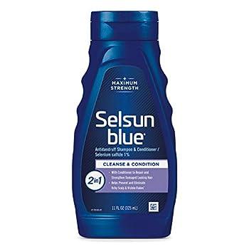 Selsun Blue Medicated Dandruff and seborrheic dermatitis Shampoo/Conditioner 2-in-1 Treatment 11 Fl Oz  Sel-6477